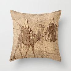 Ship of the Desert Throw Pillow