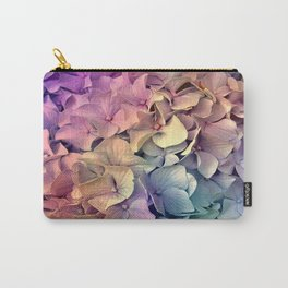 Soft Multi Color Hydrangea Carry-All Pouch