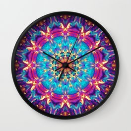 Flower Of Life Mandala (Cosmos) Wall Clock