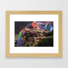 black hole rock'em sock'em Framed Art Print