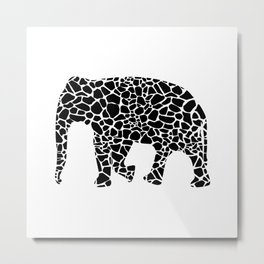Elephant with giraffe print Metal Print