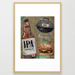 Beer & BBQ Framed Art Print