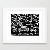 cars Framed Art Prints featuring Cars by liberthine01