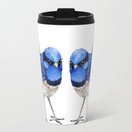 Splendid Blue Wrens, Pair Travel Mug