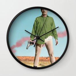 Bryan Cranston as Walter White  @ TV serie Breaking Bad Wall Clock