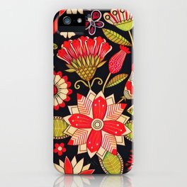 Blooms Butterflies and Ladybugs iPhone Case