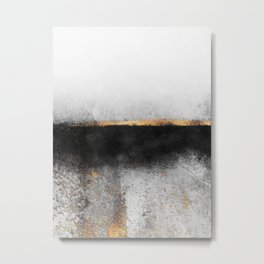Soot And Gold Metal Print