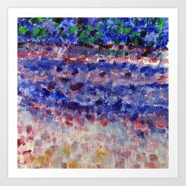 Blue & Pink Art Art Print