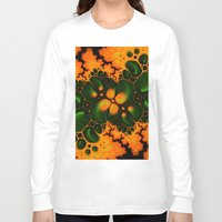fractal Long Sleeve T-shirts featuring Fractal  by Karl-Heinz Lüpke