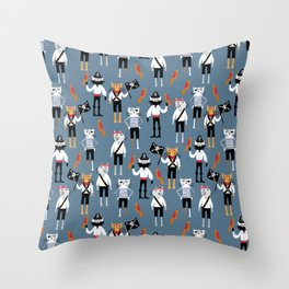 Pirate Cats Throw Pillow