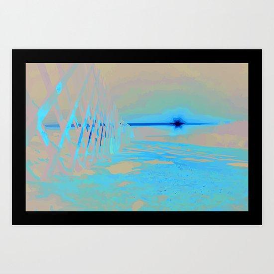 Sunrise Sets Art Print