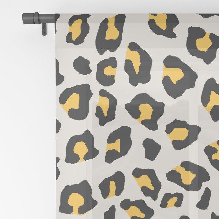 Leopard Print - Mustard Yellow Sheer Curtain