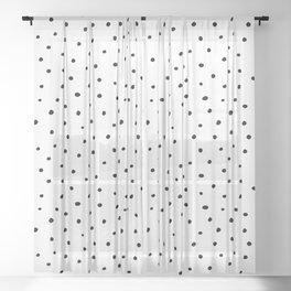 Polka Dots in Love Sheer Curtain