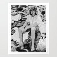 beth hoeckel Art Prints featuring Beth by Sheila Murray