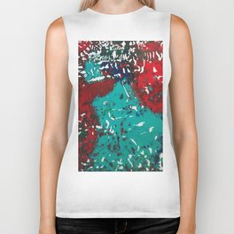 Abstracted Wolf and Kitten Biker Tank