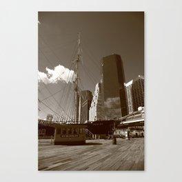 South Street Seaport - New York 2013 Canvas Print