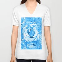 roses V-neck T-shirts featuring Roses  by Saundra Myles