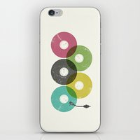 records iPhone & iPod Skins featuring Olympic Records by Jorge Lopez