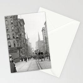 Vintage Fifth Avenue Photograph (1912) Stationery Cards