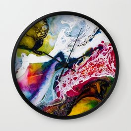 Abstracts in Color No 3, 2019 Wall Clock