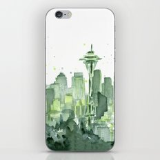 Seattle Watercolor Painting iPhone & iPod Skin