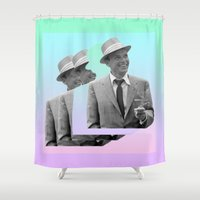 frank Shower Curtains featuring frank by sebastian kainey