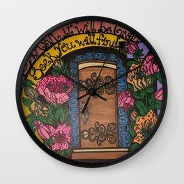 GOD'S DOOR Wall Clock