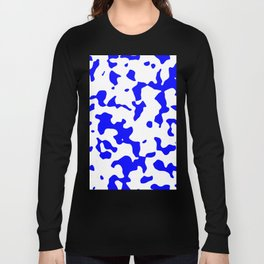 Large Spots - White and Blue Long Sleeve T-shirt