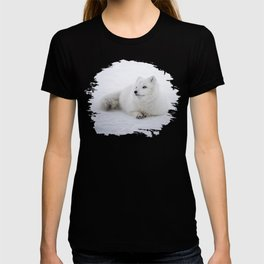 White snow arctic fox T-shirt