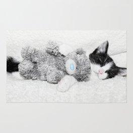 Kitten and teddy Rug