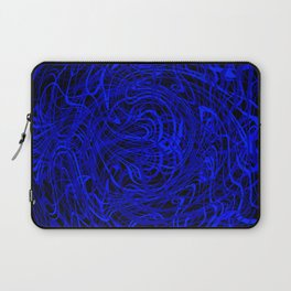 blue swirls Laptop Sleeve