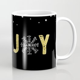 JOY w/White Snowflakes Coffee Mug