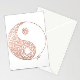 Rose Gold Yin Yang Stationery Cards