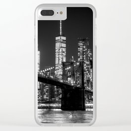 Brooklyn Bridge & WTC Clear iPhone Case