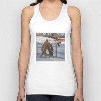 outdoor Tank Tops featuring Outdoor hockey rink by RMK Photography