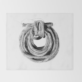 Rope Coil Throw Blanket