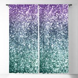 Aqua Purple Ombre Glitter #4 #decor #art #society6 Blackout Curtain