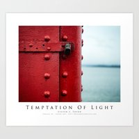 Temptation Of Light Art Print