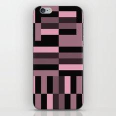 pink and black blocks iPhone & iPod Skin