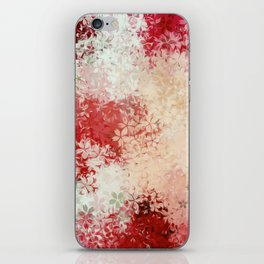 red and white flowers abstract background iPhone Skin