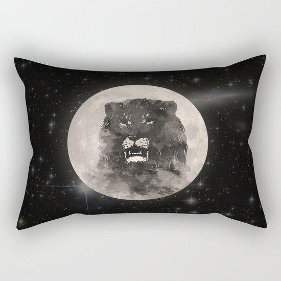 Lion in the Moon Rectangular Pillow