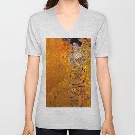 THE LADY IN GOLD BLOCH BAUER - GUSTAV KLIMT Unisex V-Neck