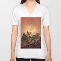 ninja turtles V-neck T-shirts featuring Teenage Mutant Ninja Turtles by s2lart