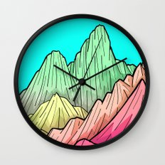 Candy Colour Mounts Wall Clock