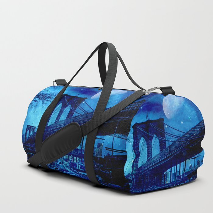 Full Moon Over Brooklyn Bridge Duffle Bag