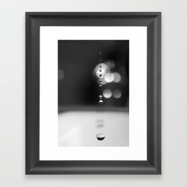 Drops Framed Art Print