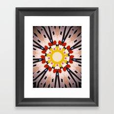 Watermelon Sunflower Framed Art Print
