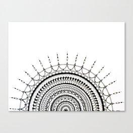 Manadala 1 - Black&White Canvas Print