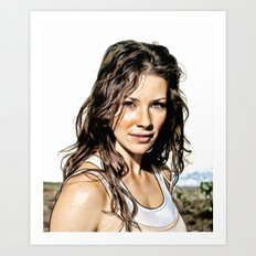 Kate from LOST (Evangeline Lilly) - Colored Pencil Work Art Print