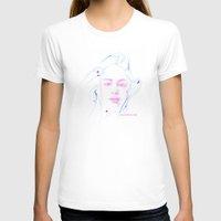 jennifer lawrence T-shirts featuring Jennifer Lawrence (Linear Curve Art) by Rene Alberto